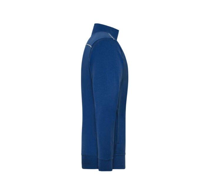 james & nicholson solid sweater jas met rits jn894 heren korenblauw 3
