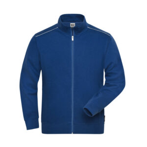 james & nicholson solid sweater jas met rits jn894 heren korenblauw
