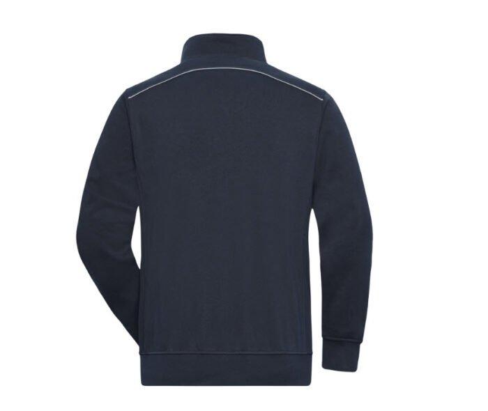james & nicholson solid sweater met rits jn895 marine b