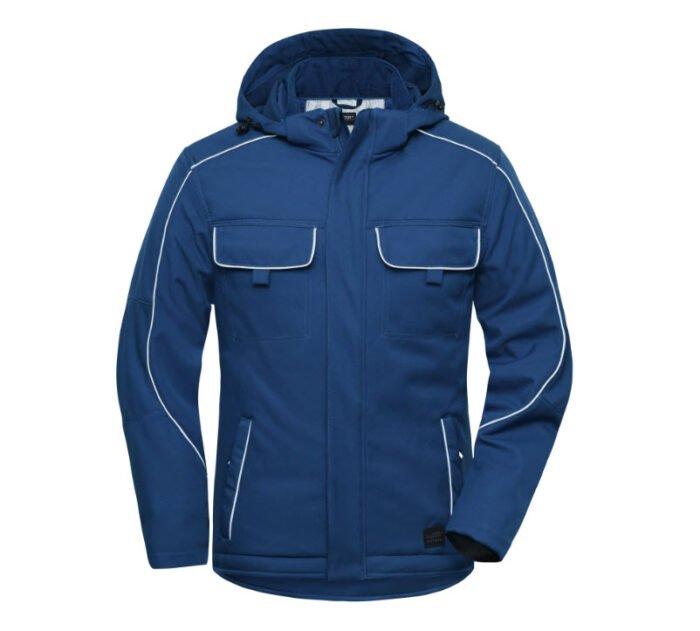 james & nicholson softshell winterjack jn886 blauw