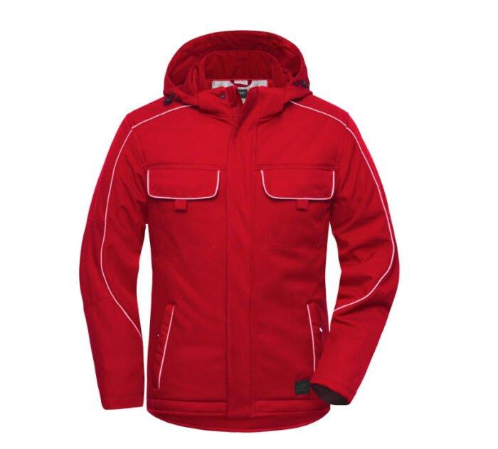 james & nicholson softshell winterjack jn886 rood