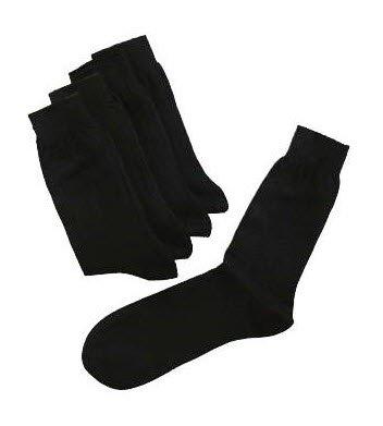 professionele sokken in zwart 100% katoen (5 stuk) 2