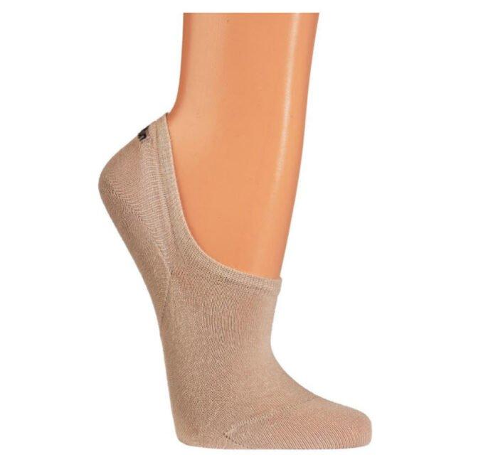 sneaker unisex sokken met extra siliconen pad (3stuk) beige