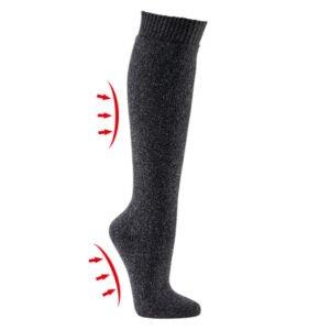 thermo badstof kniehoge sokken met wol (3 paar)