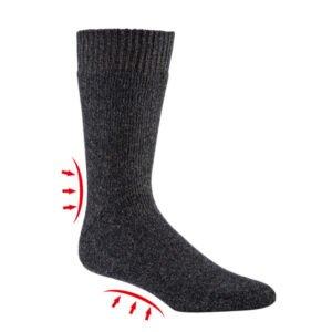 thermo badstof sokken met wol (3 paar)