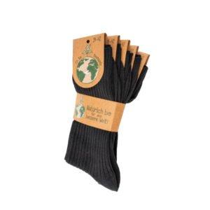 sokken gots zwart per 5 stuk 1