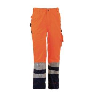 herock olympus high viz veiligheidsbroek hv (1602) oranje marine