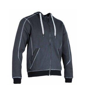 lma charpente hoodie vest blauw grijs (8048)