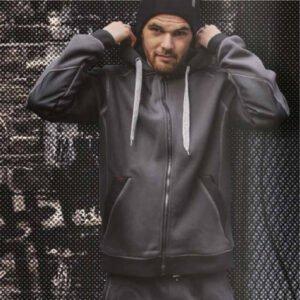 lma coffre hoodie vest zwart grijs (8049 1)
