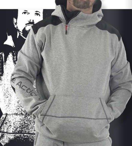lma hoodie sweater cyber grijs zwart (8079) 1