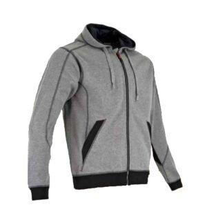 lma hoodie sweater + rits madrier grijs zwart (8074)